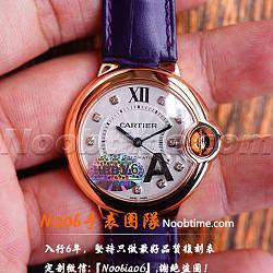 V6廠卡地亞藍氣球中號號玫金復刻表「V7版」價格/圖片